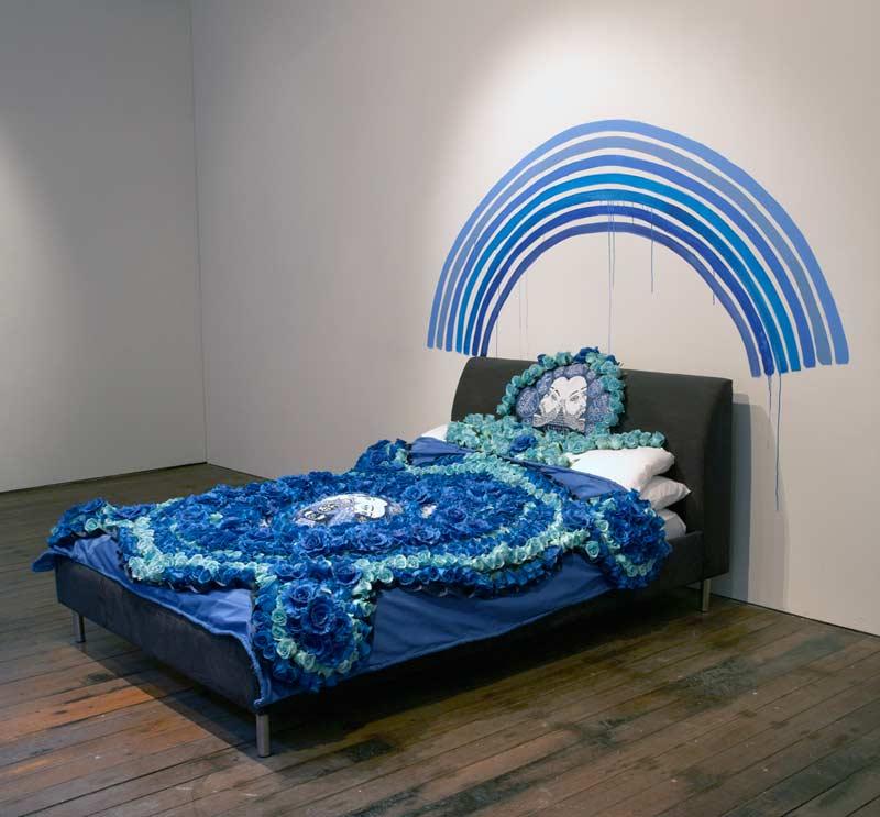 Lucas Grogan, The Wedding Quilt. installed at Gallerysmith