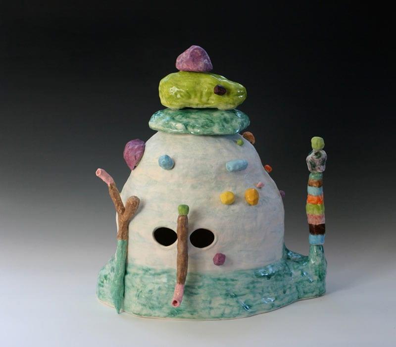 Linda Draper, Annette, 2013, Earthenware And Glaze, 52x50x40cm
