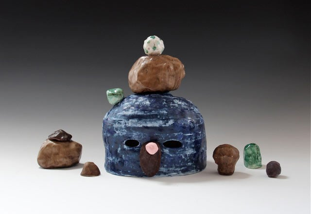 Lynda Draper, Mel, 2014, earthenware and glaze, 28x40x20cm