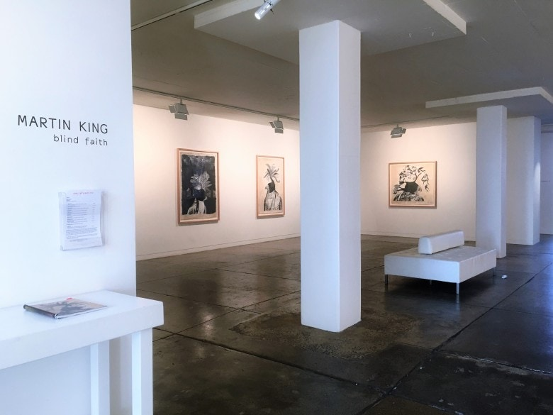 Blind Faith, an exhibition by Martin King at Gallerysmith, install view