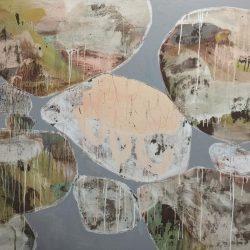 Ngaio Lenz, #100, Mixed Media On Canvas, 122x152cm (diptych)