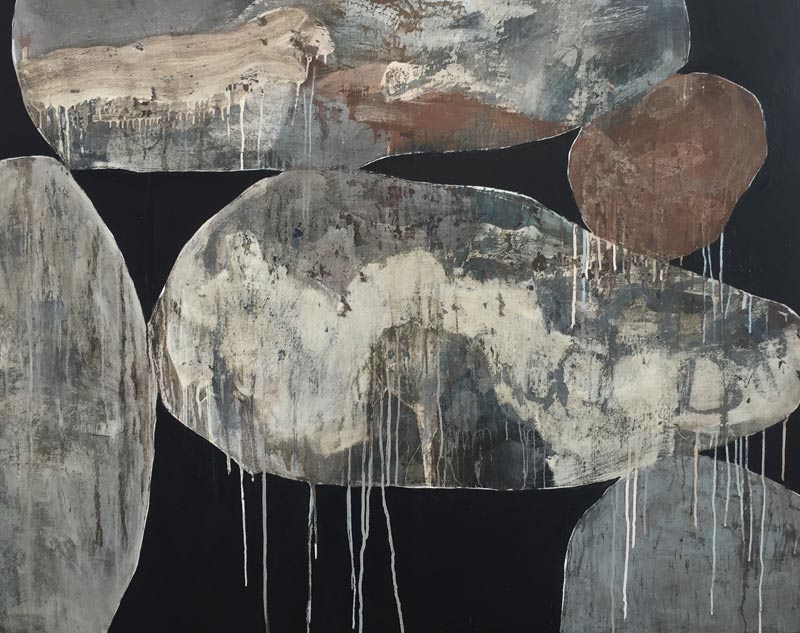 Ngaio Lenz, #102, mixed media on canvas, 122x152cm