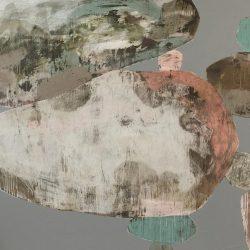 Ngaio Lenz, #103, Mixed Media On Canvas, 152x182cm