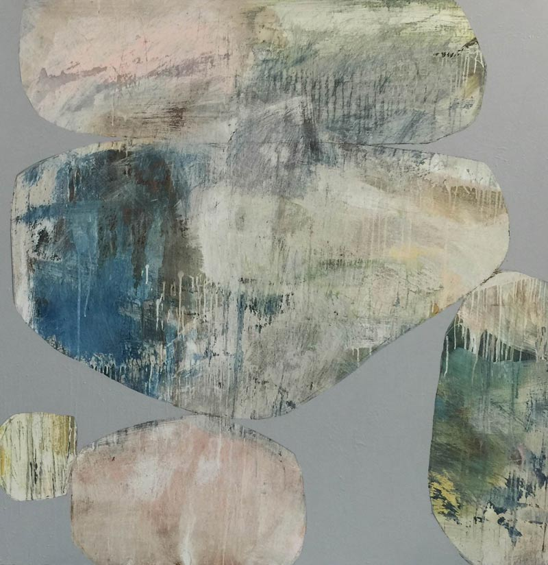 Ngaio Lenz, #66, mixed media on canvas, 122x122cm