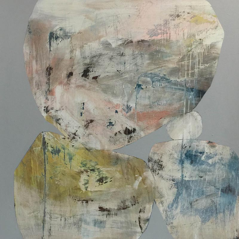 Ngaio Lenz, #67, mixed media on canvas