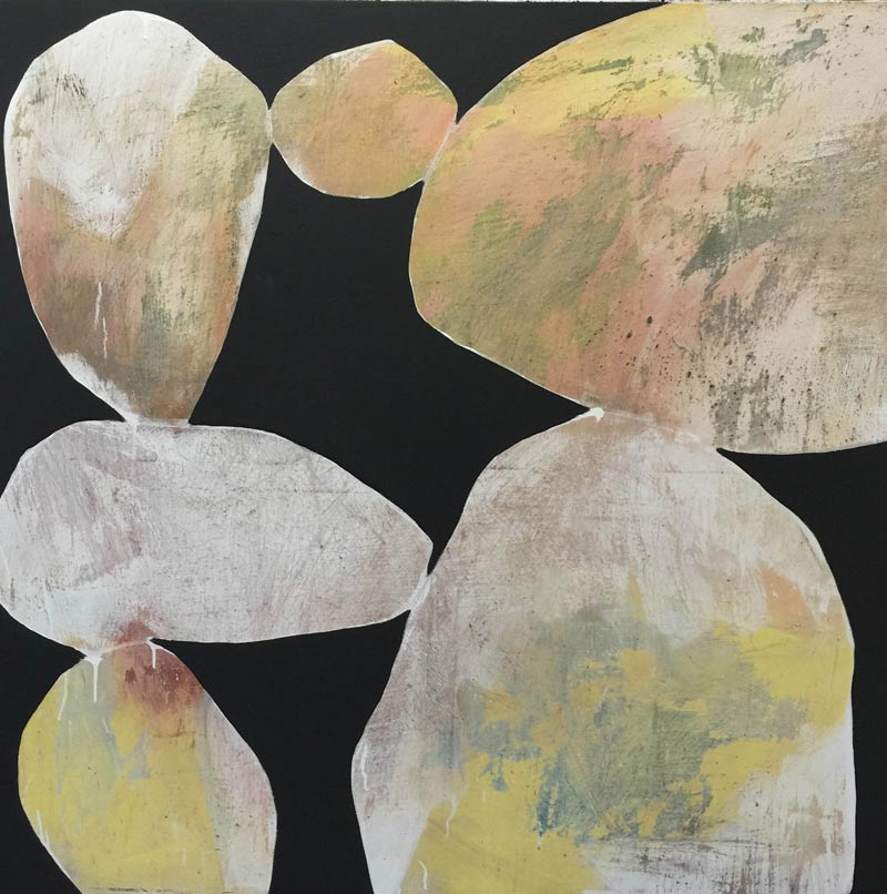 Ngaio Lenz, #70 mixed media on canvas, 120x120cm