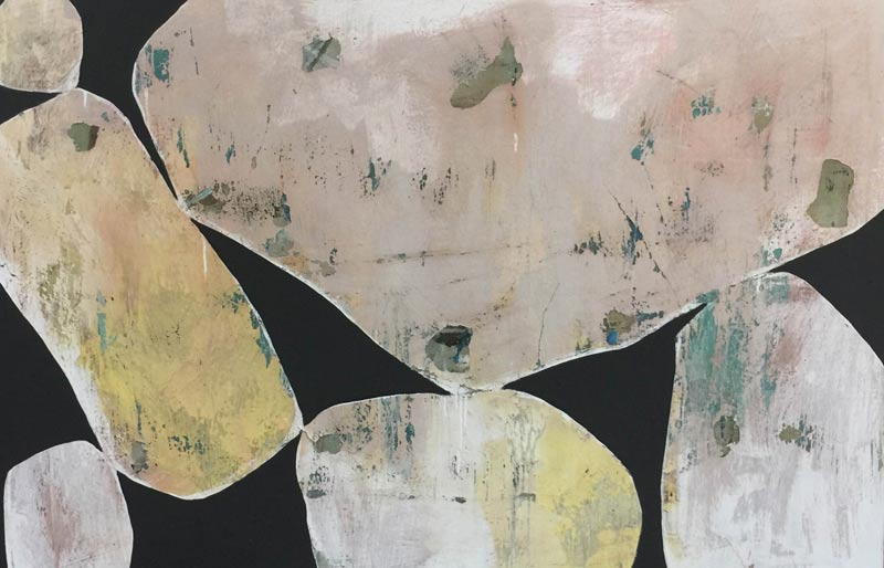 Ngaio Lenz, #71 mixed media on canvas, 101x152cm