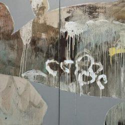 Ngaio Lenz, #94, Mixed Media On Canvas, 101x202cm (diptych)