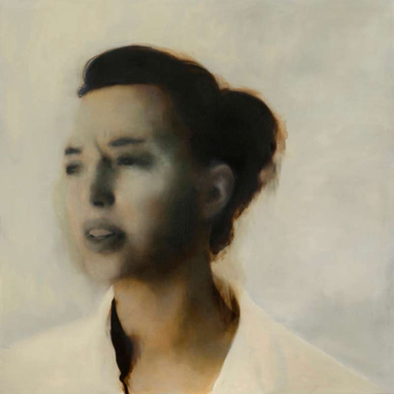 Rachel Coad, Pivot, oil on linen, 135x135cm