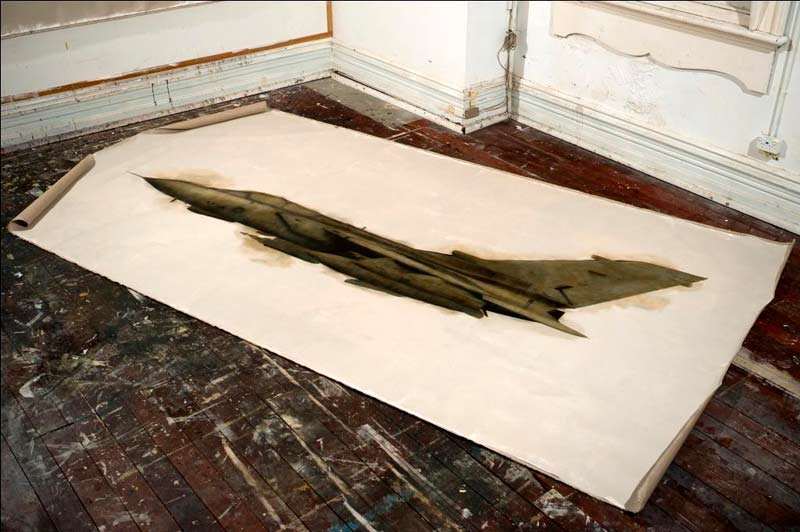 Panavia Tornado GR4, 2011, Oil And Graphite On Linen, 200x400cm