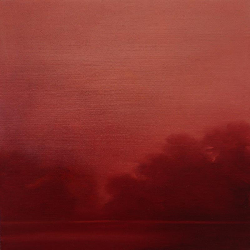 Adriane Strampp, Convergence, oil on linen, 41x41cm