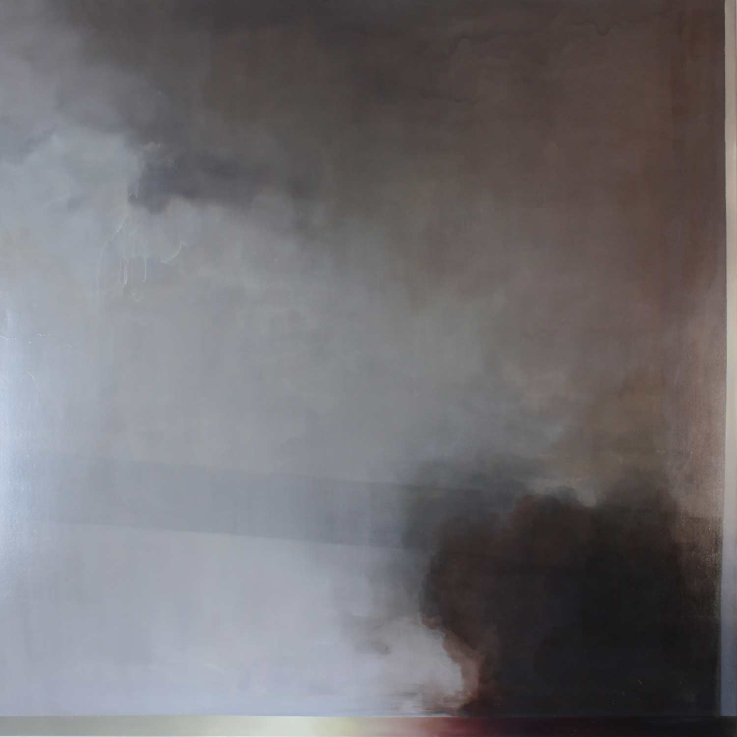 Adriane Strampp, Judgement, oil and wax on linen, 152x152cm