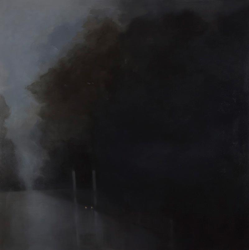 Adriane Strampp, Unease, 152x152cm