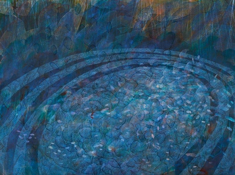 Sue Lovegrove, No. 546, 2015, acrylic and gouache on linen, 45x60cm