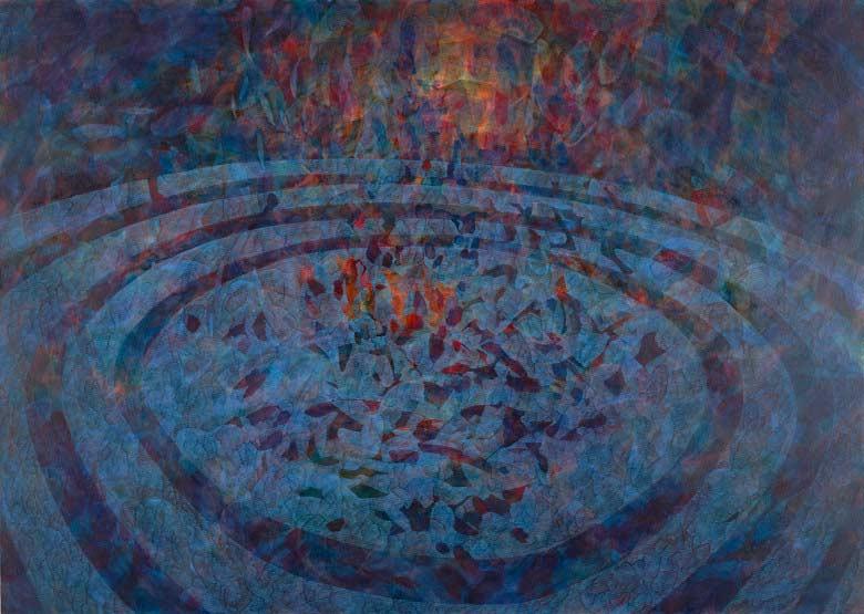 Sue Lovegrove, No. 552, 2015, acrylic and gouache on linen, 100x140cm