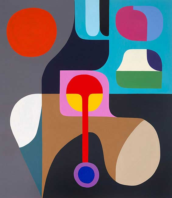 Stephen Ormandy. Mona Lisa Remix, Oil on linen, 198 x 168 cm, for the exhibition Winter Solstice 1 at Gallerysmith